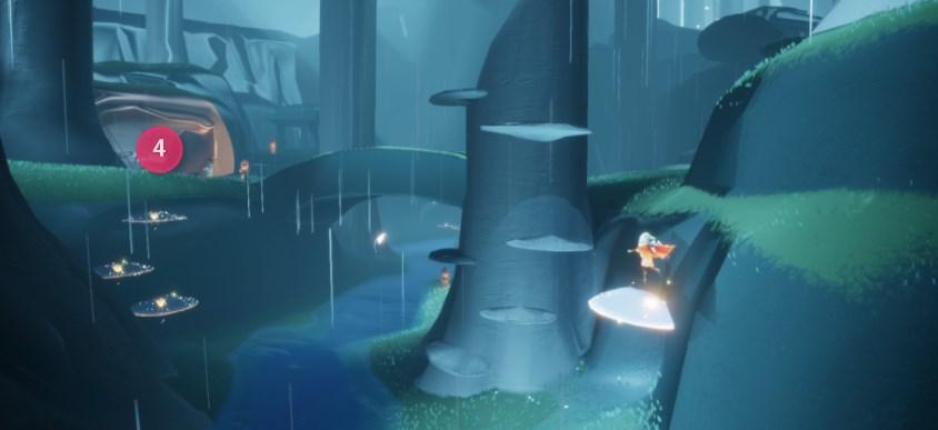 雨林の精霊の場所