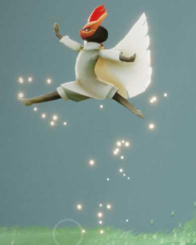 飛び跳ねる舞踏家