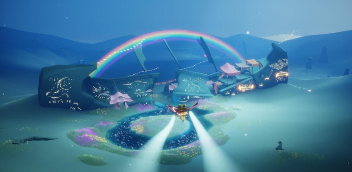 捨て地の虹のキャンドル