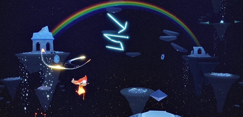 書庫の虹のキャンドル