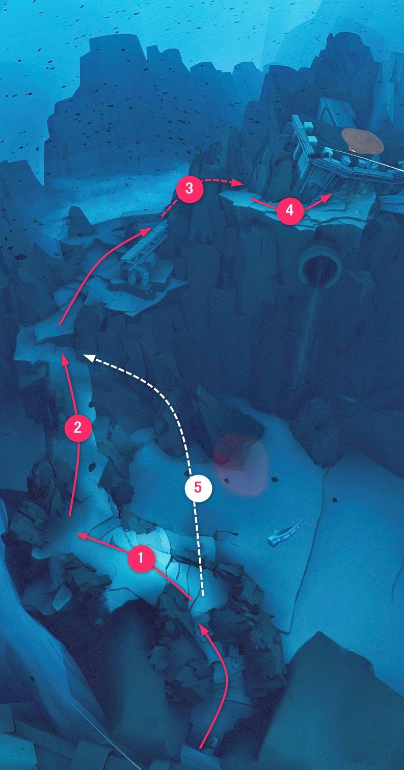 暴風域エリア1マップ
