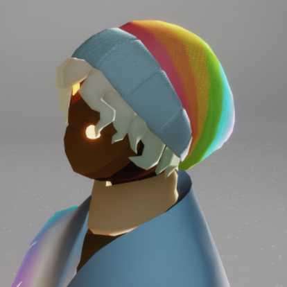 虹かける帽子(髪型)