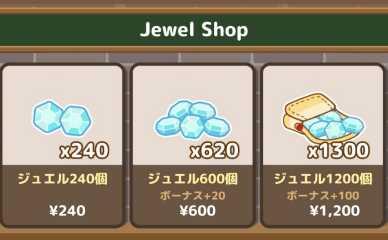 ジュエルの購入